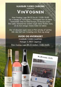 Vin vognen kommer på Hjarbæk Fjord Camping